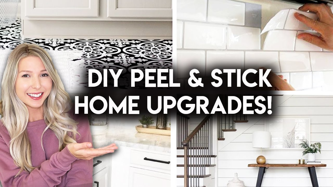 5 RENTER FRIENDLY PEEL & STICK PRODUCTS | REMOVABLE UPGRADES