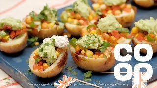 Co-op Food | Vegan Fully Loaded Potato Skins