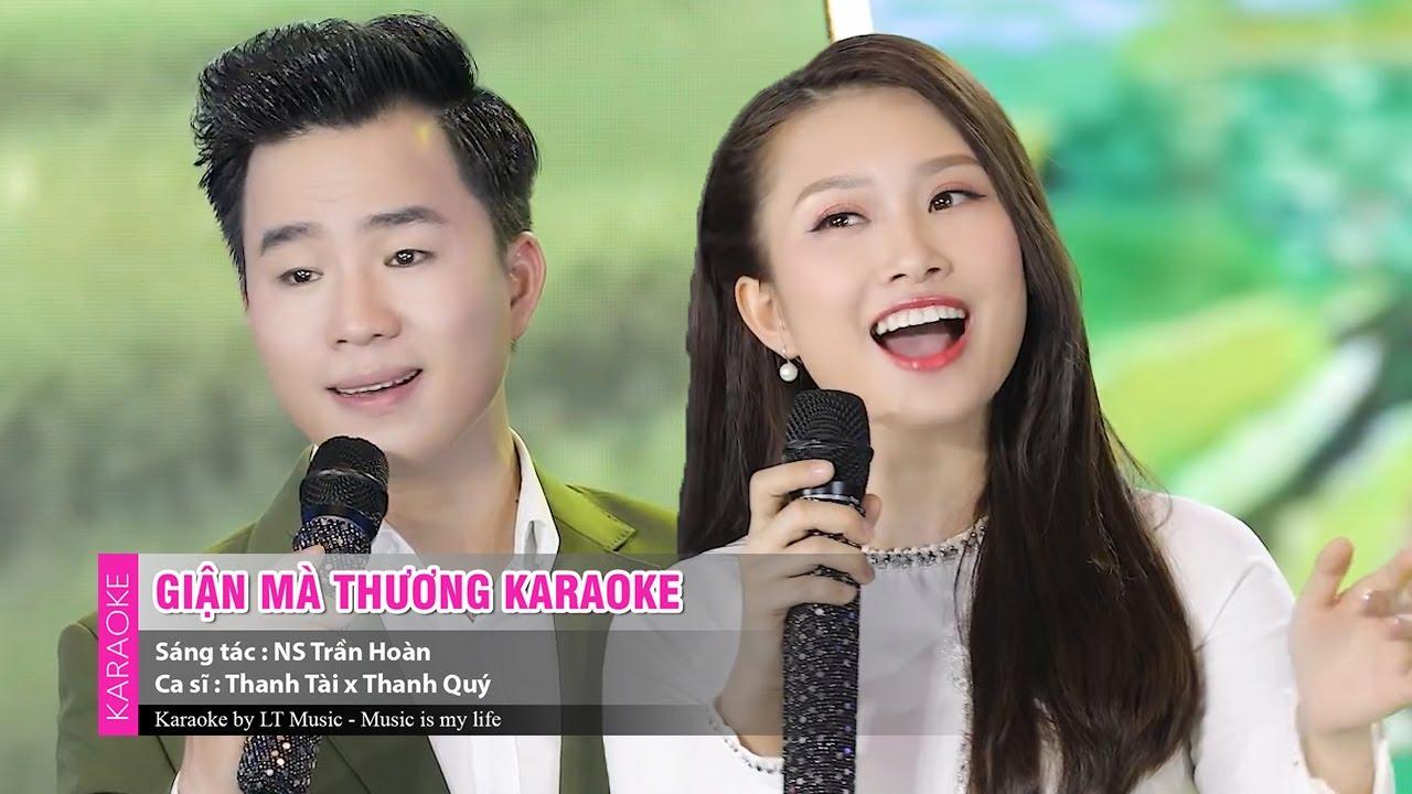 Giận Mà Thương ( Karaoke ) || Thanh Tài ft Thanh Quý Official