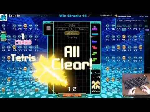 Tetris 99 Win with All Clear End