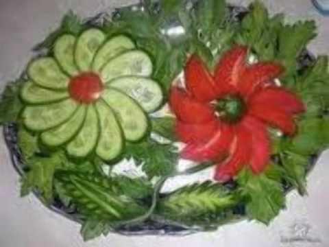 creative salad decoration ideas & creative salad decoration ideas - YouTube