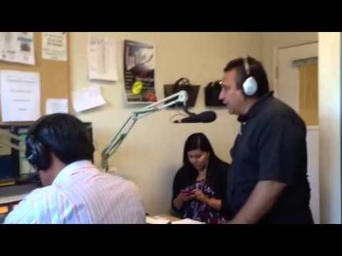 Edmer Guzman en Radio Visión en Salinas California