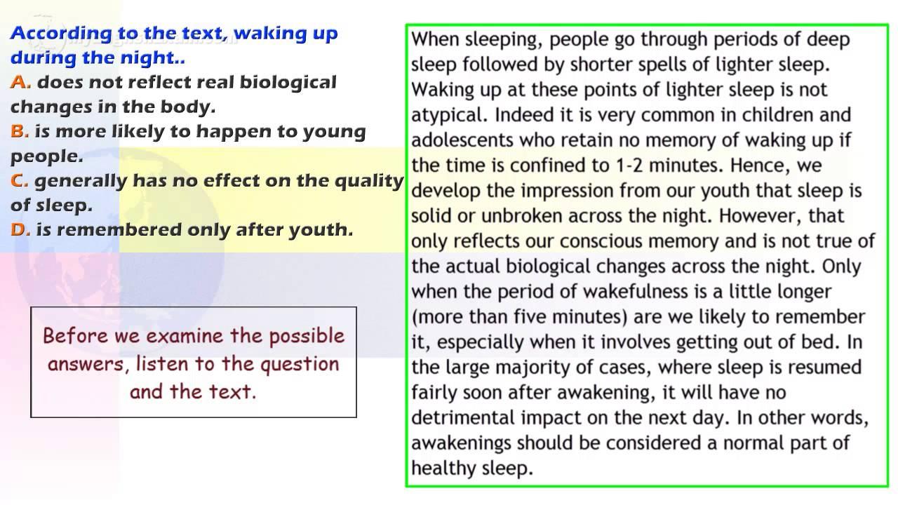 IELTS Reading Series Two: 29 - Sleep