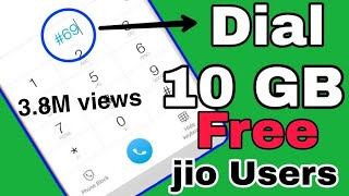 How to get free 10 GB internet from jio sim | jio provides emergency data back up | How to redeem thumbnail