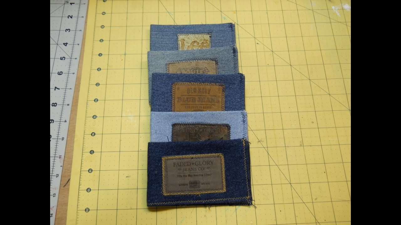 How to sew a denim wallet youtube how to sew a denim wallet jeuxipadfo Choice Image