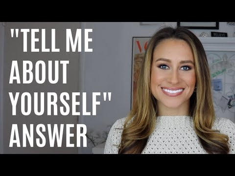 TELL ME ABOUT YOURSELF |  Easy interview answer | Dani Walker