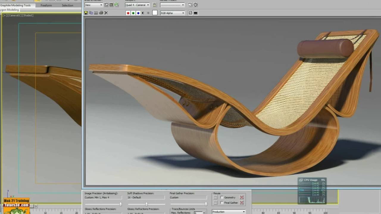 Promo Chaise 3dsmax Advanced Modeling Chaise Longue Promo