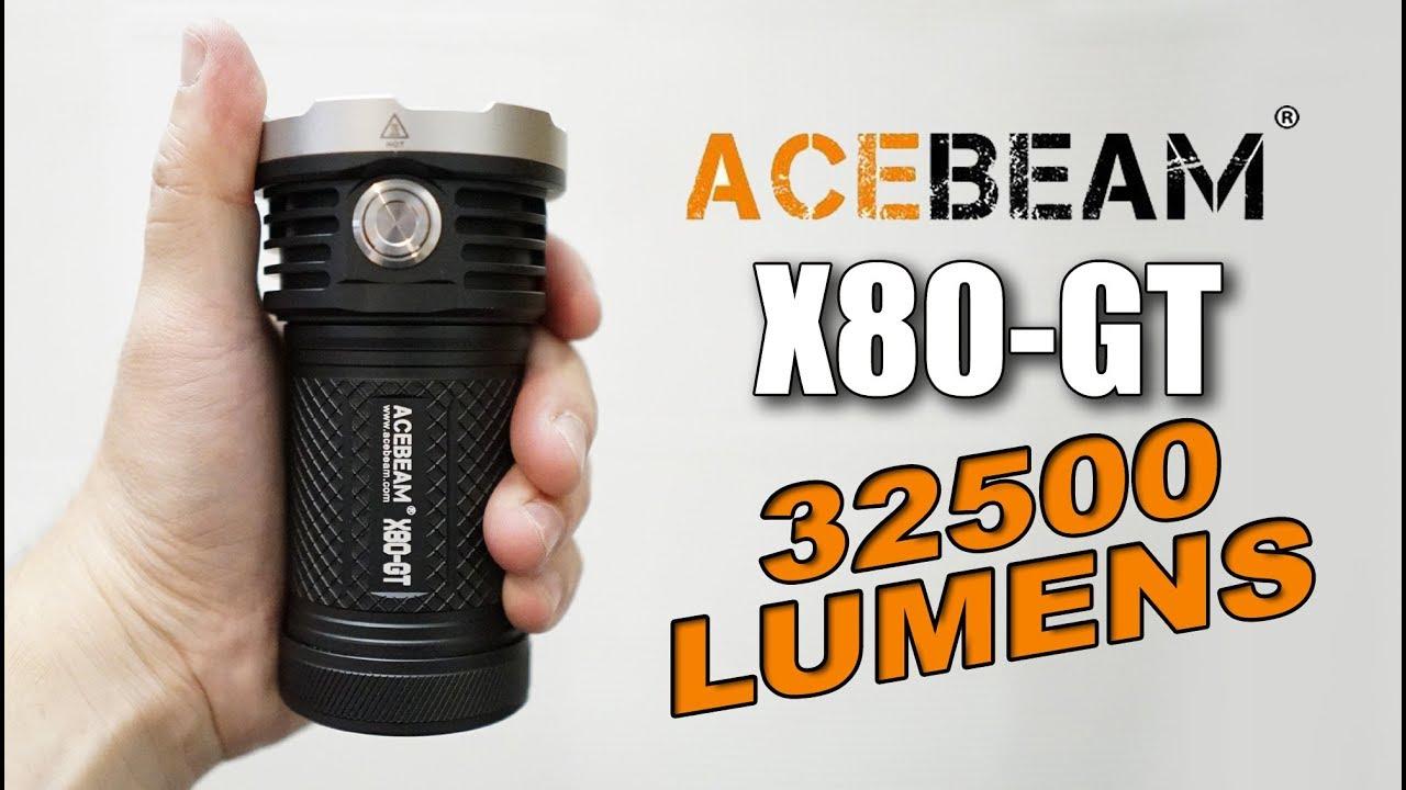 Download Acebeam X80-GT - World's Brightest pop can flashlight!