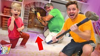 BREAKING INTO SECRET DOOR!