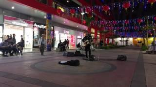 Yellow by Coldplay (Cover by Wesley Li) next to Vieshow Cinemas, Xinyi District, Taipei