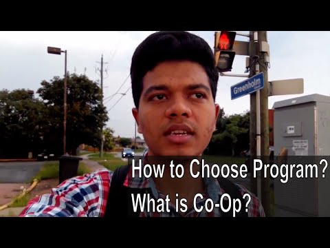 How to Choose a Program? Things to keep in mind | What is Co-Op?