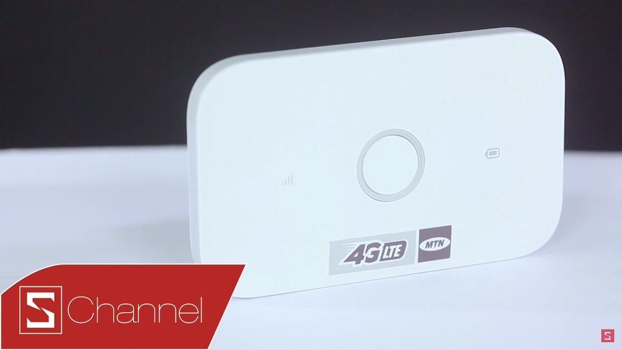 Schannel - Mở hộp bộ phát Wi-Fi di động Huawei E5573C: Hỗ trợ 4G, thiết kế nhỏ gọn, pin 6 tiếng