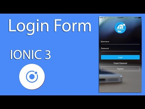 Mobile Development IONIC 3 Login Form ( IOS & Android )  Learn Quickly