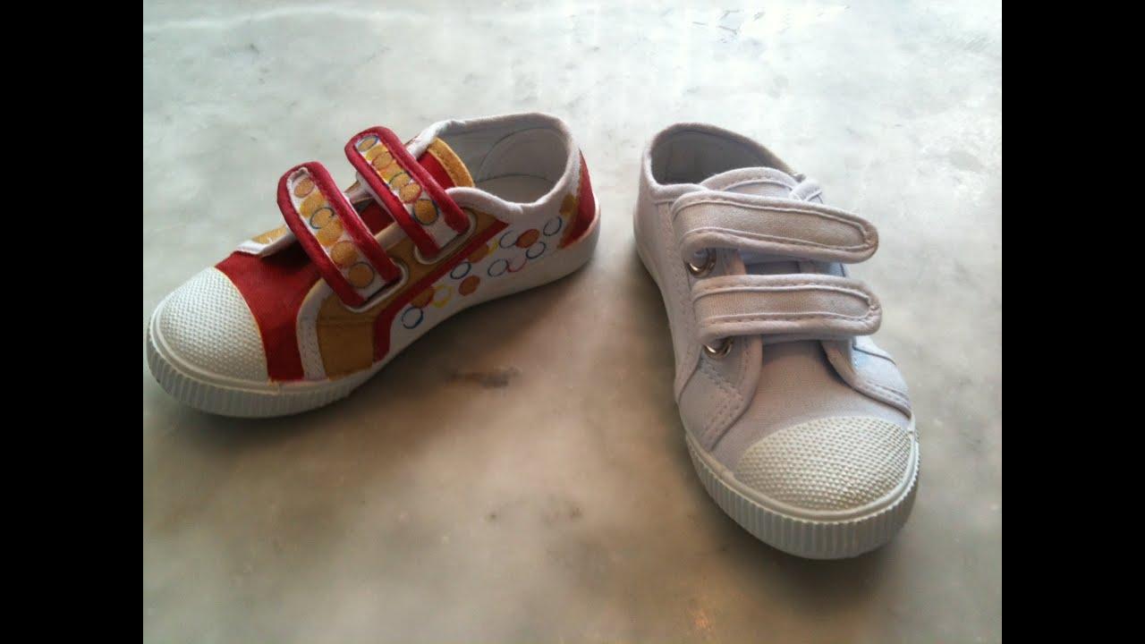 eda7d3437 طريقة صباغة وتغيير شكل الحذاء - YouTube