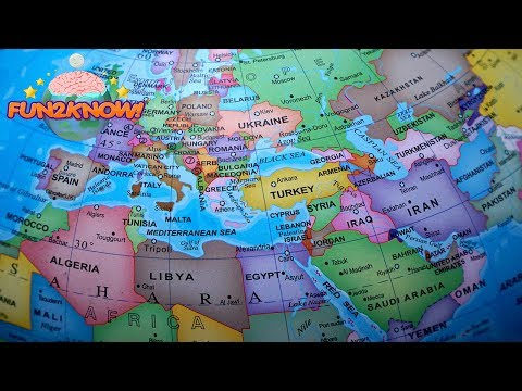 The Largest - And Smallest Countries On The Globe | FUN2KNOW!