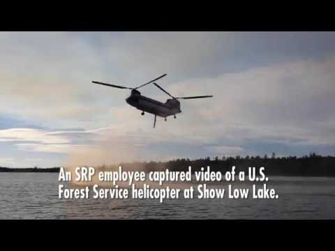 U.S. Forest Service helicopter fighting Cedar Creek wildfire