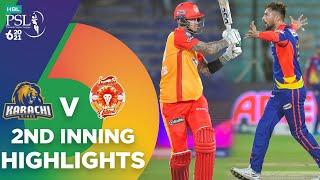 2nd Inning Highlights | Karachi Kings vs Islamabad United | Match 6 | HBL PSL 6 | MG2T