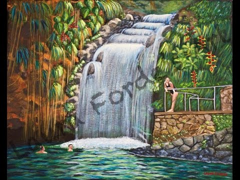 Time Lapse Acrylic Video Waterfall Painting (View in HD)
