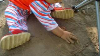 Stuti playing in soil...