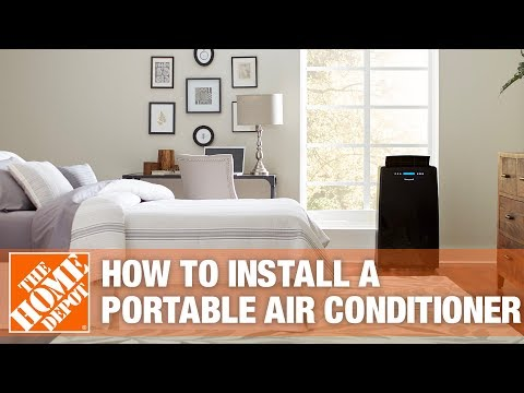 How to Install a Portable Air Conditioner - YouTube