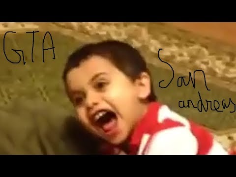 Kid slapped  fly swatter GTA San Andreas theme song remix