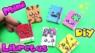 Mini Libretas kawaii con anillas | Manualidades fáciles para niños.  Útiles escolares