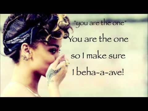 YOU DA ONE - RIHANNA (lyrics On Screen)!