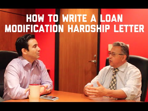 How To Write A Loan Modification Hardship Letter - YouTube