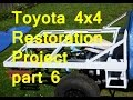 Toyota 4x4 Pickup to Flatbed Camper Conversion - Part 6