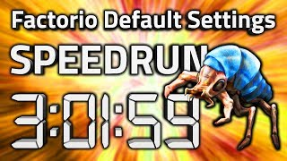 "Factorio ""Default Settings"" Speedrun in 3:01:59 by AntiElitz [0.17.60+ World Record]"