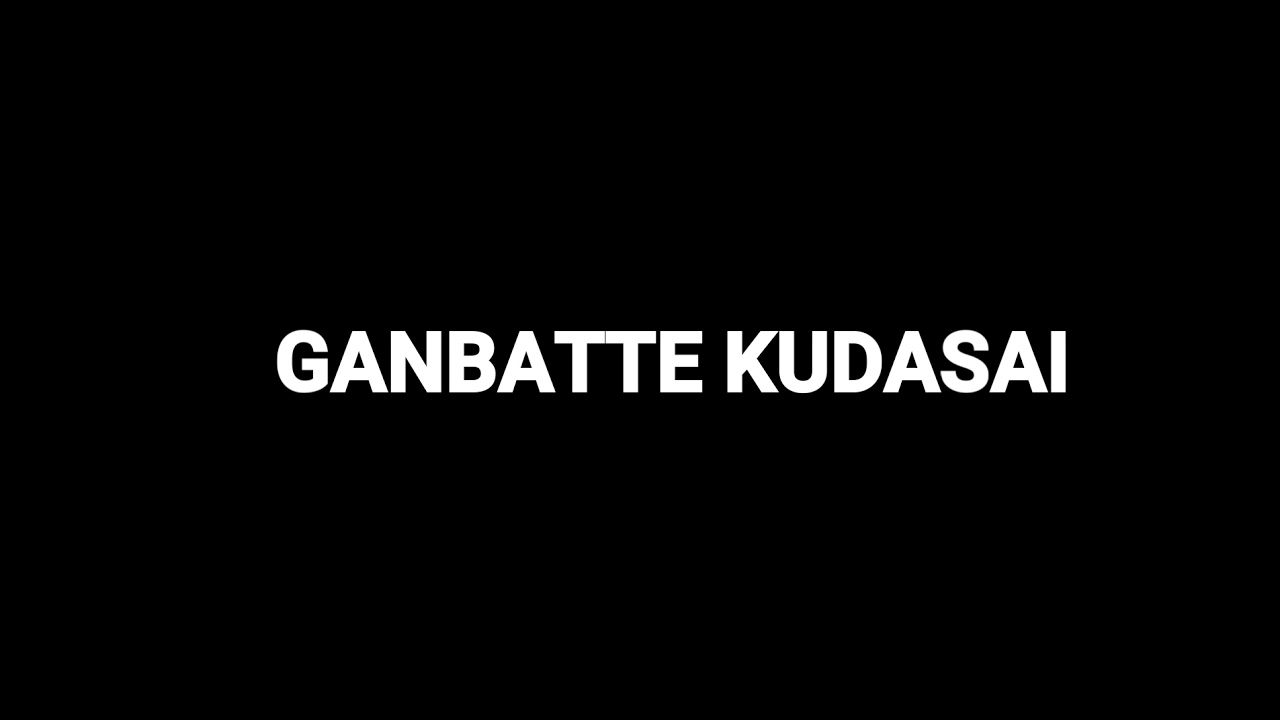 How To Pronounce Ganbatte Kudasai Youtube