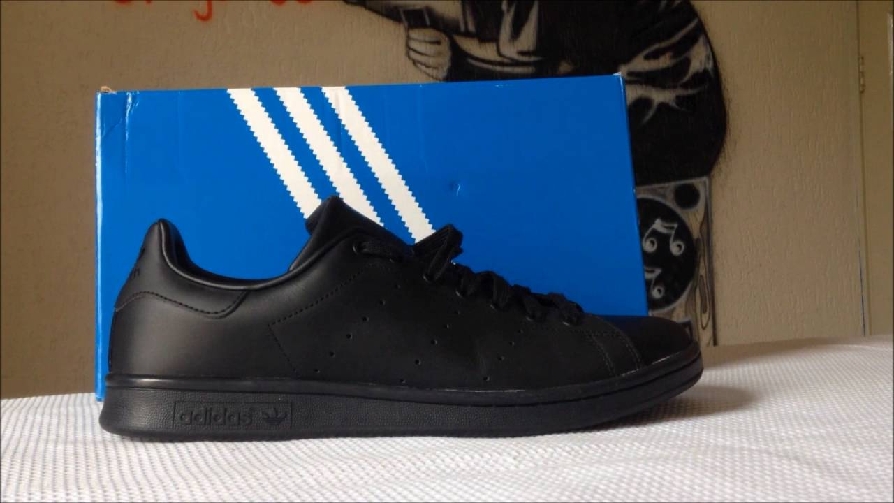 outlet store 9e2d3 53ed6 ADIDAS STAN SMITH ALL BLACK + ON FEET | WOS