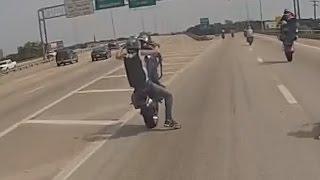 Long Motorcycle Highway Wheelie HD Stunt Bike Combo Tricks Insane Stunts Dallas, TX Blox Starz TV
