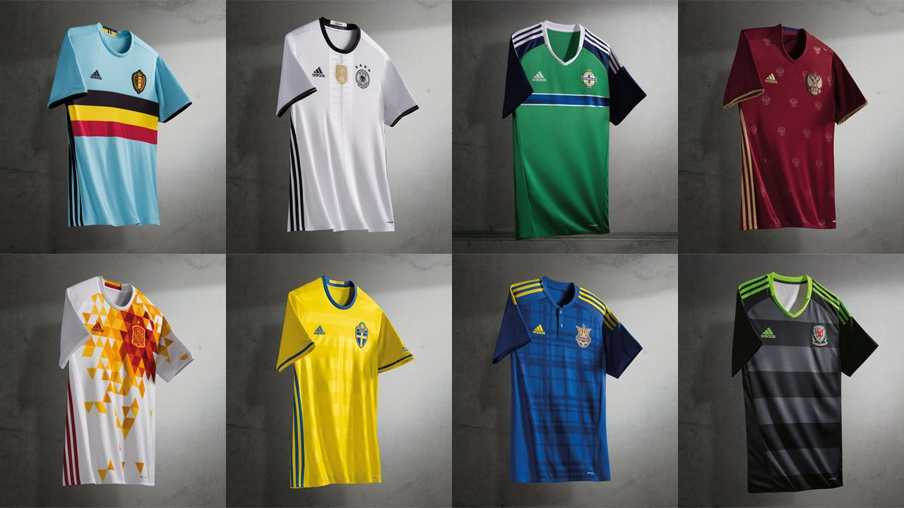 5981f52631c ALL ADIDAS EURO 2016 NATIONAL FOOTBALL KITS - YouTube