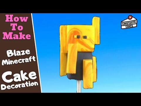 How to Make Gum Paste Minecraft BLAZE Cake Decorations Instructions