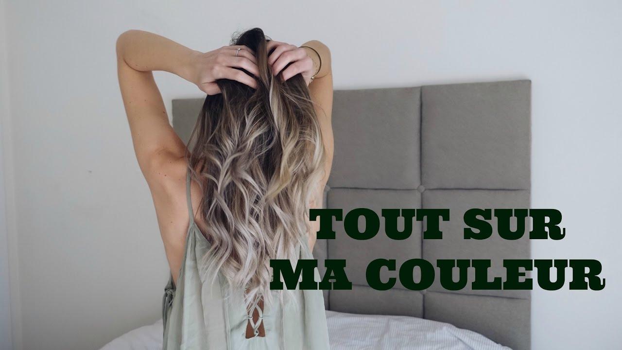 Souvent Mon tie and dye blond/blanc: couleur et entretien - YouTube PP49