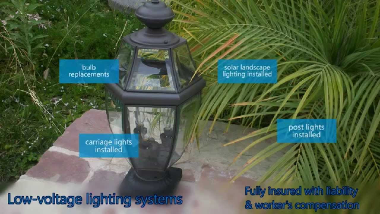 Low Voltage Landscape Electric Lighting Repairs Installs