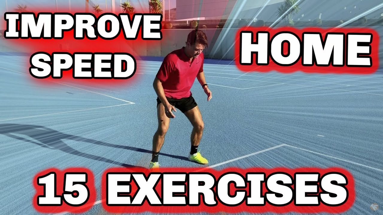 Badminton Training: 15 EXERCISES - SPEED at HOME ??