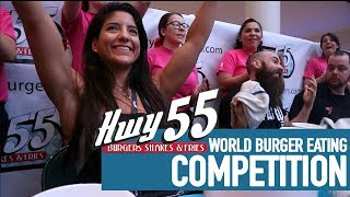 NO 1 BABY!! | HWY55 | World Burger Eating Competition ft. BeardMeatsFood