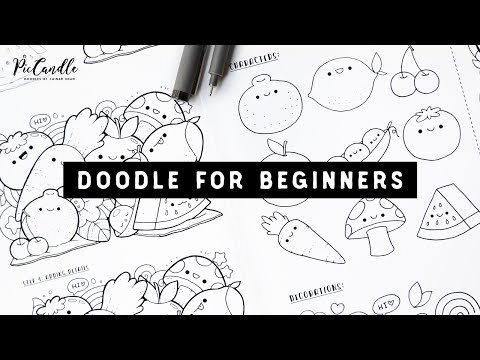 Doodle for Beginners Ep2   Kawaii Fruits & Vegetables   Draw with Me Step-by-Step