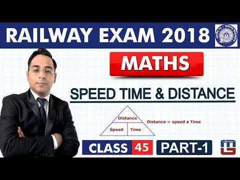 Speed Time & Distance |  Part-1 | Maths | Class - 45 | RRB | Railway ALP / Group D | Live At 10 PM