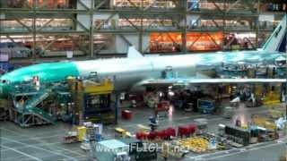 Thai Airways Boeing 777-300ER Delivery Flight from Boeing Everett to Bangkok Suvarnbhumi