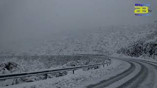 La borrasca Gloria deja carreteras cortadas a su paso en el norte de la provincia de Almería