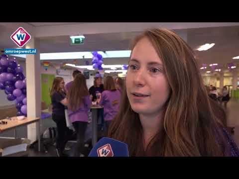 Paarse Vrijdag op Leidse school: 'Wie niet in paars komt, wordt geverfd!'