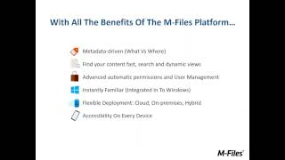 Webinar: M-Files for Contract Lifecycle Management