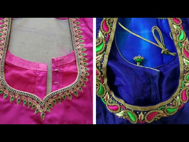 Simple Work Blouse Back Neck Designs For Back 2018 Collection | Maggam Work | Aari Work 2018