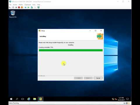Postgres 10 0 Installation on Windows Server