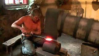 Several Hundred Year Old Drop Hammer in Operation, May 2011 thumbnail