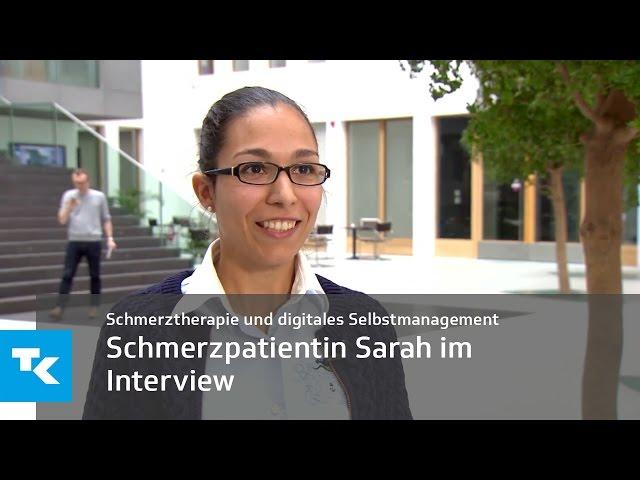 Schmerzpatientin Sarah im Interview | Schmerztherapie und digitales Selbstmanagement