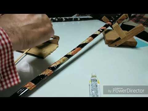 杖の作り方 塗裝編 パート1 Home made tool - YouTube
